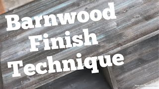 Easy Faux Barnwood Paint Technique -