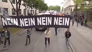 Mehr als 2000 Schüler demonstrieren gegen das PAG am 15. Mai 2018 in München