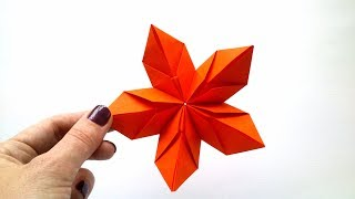 Origami paper double square flower origami kawaii157 modular origami flower of 5 petals mightylinksfo