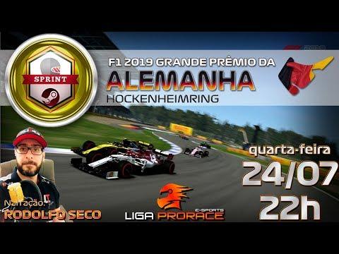 F1 2019 ESPORTS | GRANDE PRÊMIO DA ALEMANHA 2019 | F1 2019 PC SPRINT | LIGA PRO RACE ESPORTS