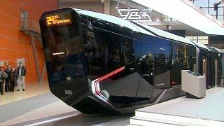 Футуристический трамвай показали в Москве (новости)