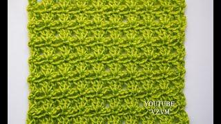 Легкие узоры крючком для начинающих Урок 46   Easy crochet for beginners