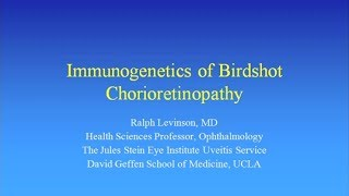Immunogenetics of BSRC - Ralph Levinson, MD