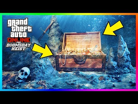 GTA Online Underwater Treasure - How Make Over $200000 An Hour After The Doomsday Heist DLC! (GTA 5)