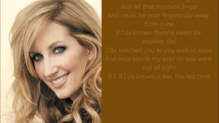 "♫ Lyrics - ""The Last Time"" - Lee Ann Womack"