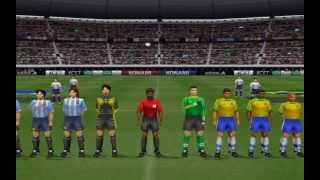 Winning Eleven 4 Psone - Argentina Vs  Brasil By Polise HD