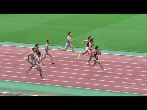 注目の桐生が優勝!陸上関東インカレ男子100m