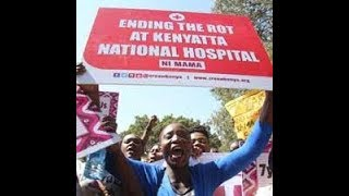 Drama at the KNH as human rights activists and KNH staff clash