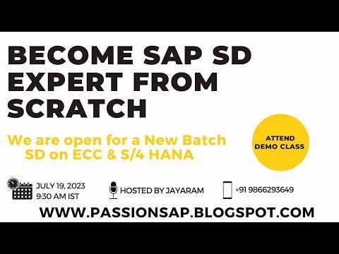 SAP SD Sales & Distribution Online training by Jayaram - New batch ...