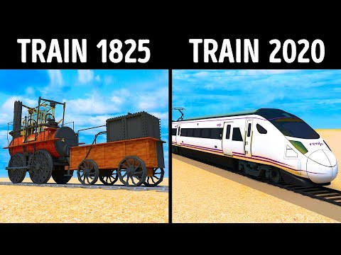 From The First Locomotive to the World's Fastest Train