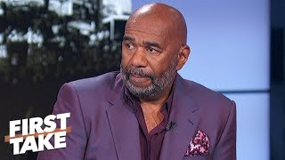 Steve Harvey laments LeBron's move to Lakers, Browns' historic struggles | First Take