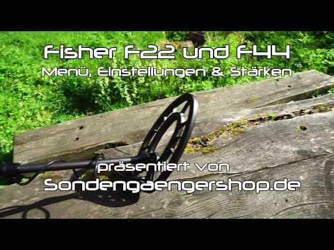 Fisher F22 und F44 Metalldetektor Einstellungen, Menüerklärung und Stärken