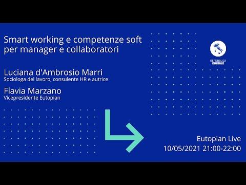 Intervista a Luciana d'Ambrosio Marri – Smart working e competenze soft per manager e collaboratori – Eutopian – 10.05.2021