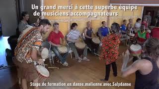 Sandiya avec Salydanse, Harouna Dembélé & Bamat , Stage de formation 2018