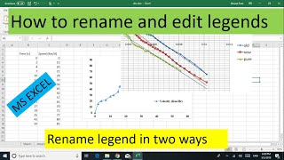 How to rename and edit legends in Microsoft Excel