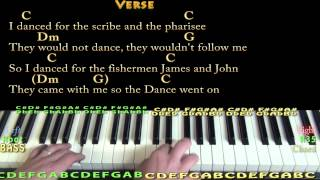 Lord of the Dance - Piano Cover Lesson in C with Chords/Lyrics