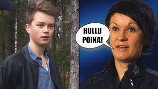 Tämä teinipoika sekosi nähdessään poliisin…