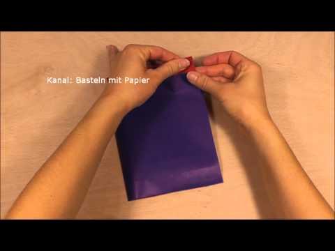 Papiertüten basteln - Tüten selber falten aus Papier z.B. Geschenktüten