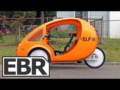 2013 Organic Transit ELF Video Review – Solar Powered Electric Bike with Canopy and Cargo Holds