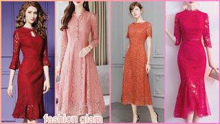 Gorgeous Slim Bodycon Midi Dress/lace Maxi Dresses Styles
