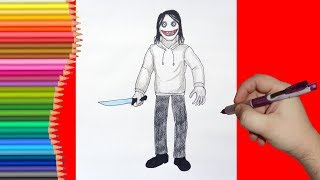 How to draw Jeff the Killer, Как нарисовать Джеффа Убийцу