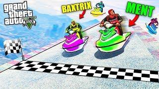 DRIFT na Vodných Skútroch - GTA 5 Skill Test w/ Baxtrix , Selassie , Ment