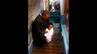 Kid Decides To Baptize Himself After Too Excited