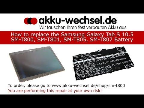 Akku-Wechsel beim Samsung Galaxy Tab S 10.5 | SM-T800, SM-T801, SM-T805 und SM-T807