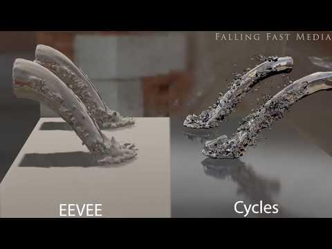 New Blender 2 8 Beta EEVEE v Cycles Fluid Simulation Render 4