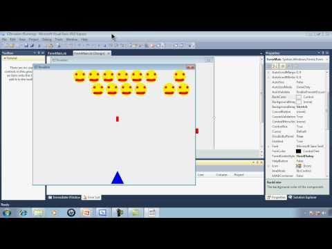 Visual Basic Express 2010 Tutorial 32 EZInvaders Part 1 Simple Video Game Programming