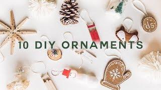 10 DIY CHRISTMAS ORNAMENTS - Cheap + Aesthetic (2019) // Lone Fox