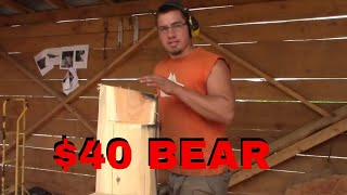 $40 Chainsaw Carved Bear Tutorial