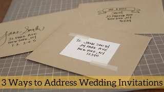 3 Ways To Address Wedding Invitations