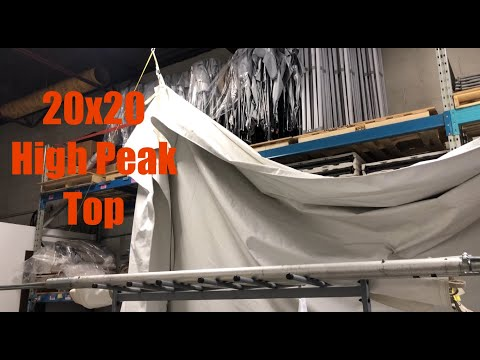 Tent Drying System In Small Space - Growing Event Rental Business