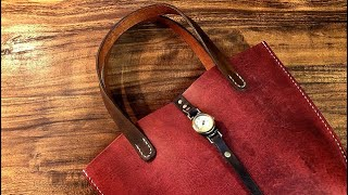 【Making】Vintage Tote Bags【Leather Craft】