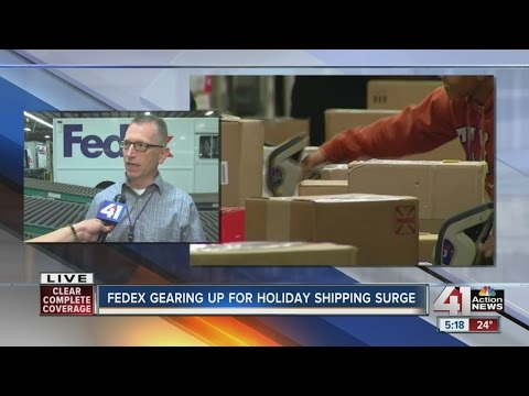 FedEx gearing up for holiday shipping surge