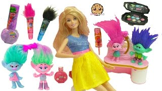 Trolls Poppy, Branch, Satin and Chenille Give Barbie & Shopkins Makeovers