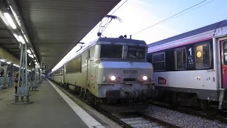 preview picture of video '[Paris Austerlitz] BB7300 - Arrivée IC de nuit n°3970&3730 (La Tour de Carol / Cerbère)'