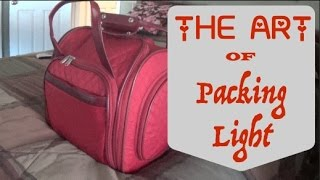 """The Art of Packing Light~10 Days in an """"Under The Seat Suitcase"""""""