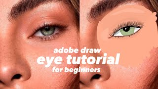 HOW TO DRAW EYES   Adobe Draw Digital Illustration Tutorial
