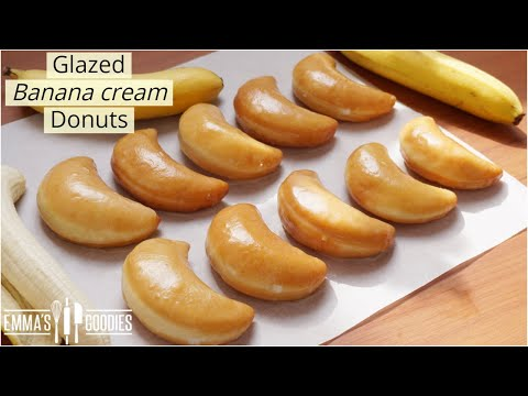 The DONUT Recipe YOU didn't know You needed! Glazed Banana Cream Donuts recipe!