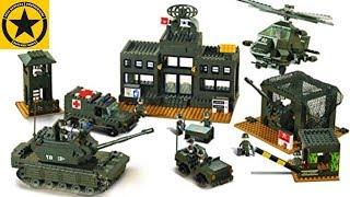 Children Lego ARMY ♦ Sluban M38-B7100 Headquarter Set