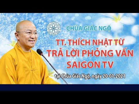 TT. Nhật Từ trả lời phỏng vấn Saigon TV