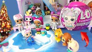 Новые куклы ЛОЛ - Сияющий Сюрприз! Играем в кукольном домике Обзор игрушек для девочек LОL Surprise