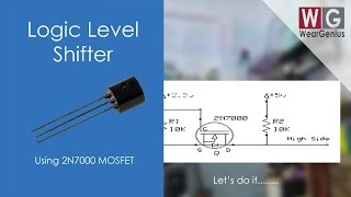 Logic Level Shifter Using 2N7000 | Electronics