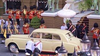 Thai Royal Motorcade ขบวนเสด็จพระราชพิธีอัญเชิญพระโกศพระบรมอัฐิ