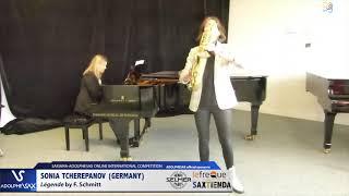 Sonia TCHEREPANOV plays  Legende by F. Schmitt #adolphesax