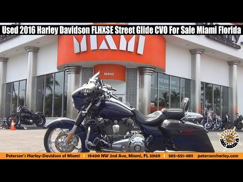 Used 2016 Harley Davidson FLHXSE Street Glide CVO For Sale Miami Florida