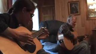 Doc Watson (86 yrs. old) and Conrad Oberg (14 yrs. old).......Sitting on Top of the World!!