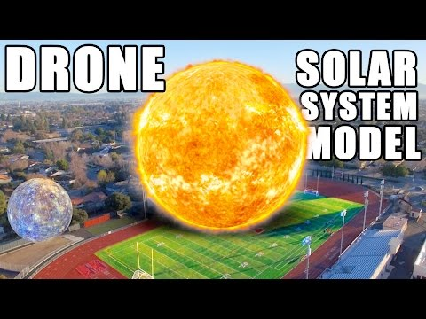 The Scale Of The Solar System With A Soccer Ball A Drone